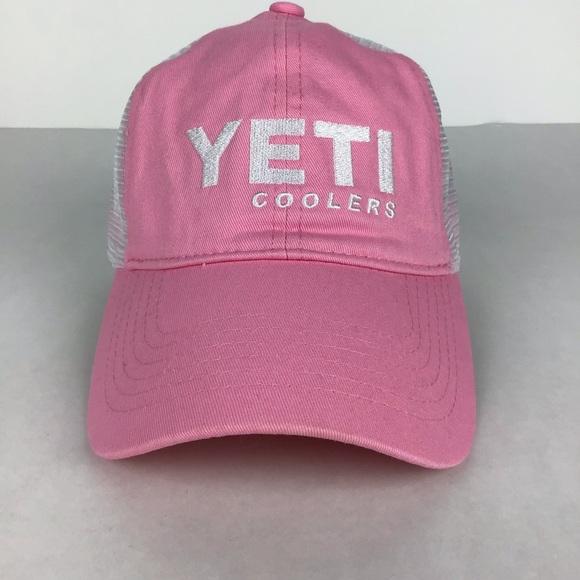 2d216d4a Yeti Accessories | Cooler Pink Trucker Cap | Poshmark